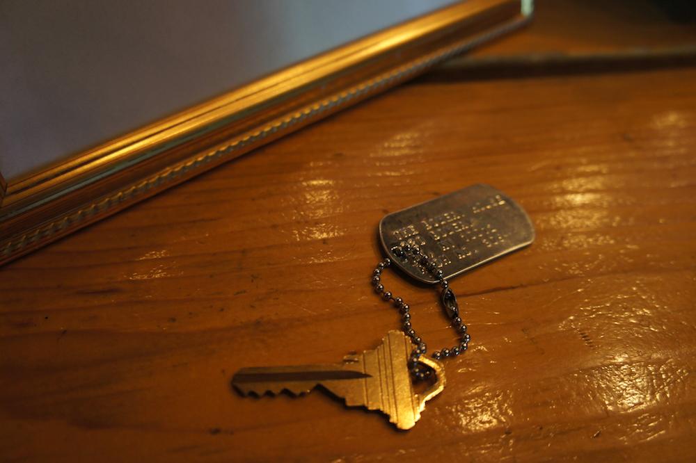 Schlüssel mit Army-Tag
